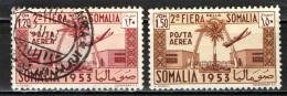 SOMALIA - AFIS - 1953 - 2^ FIERA DELLA SOMALIA - USATI - Somalia (AFIS)