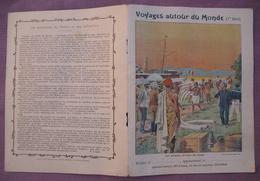 Protège Cahier Illustré Vers 1900 / Voyages Autour Du Monde - Les Porteurs D'ivoire Au Congo - Transport