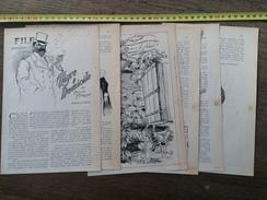 ANCIEN DOCUMENT 1910 TIGRE A DOMICILE PAR ARTHUR MORRISON DESSINS DE HUARD - Collections