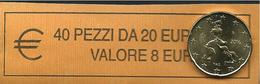 ITALIA  2016 - ROLL 20 CENT  ORIGINALE ZECCA - DATA VISIBILE - FDC - Rotolini