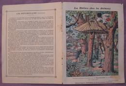 Protège Cahier Illustré Vers 1900 / Les Métiers Chez Les Animaux - Toitures Artistiques Construites Par LesRépublicains - Animals