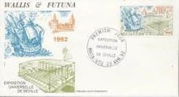 Wallis Futuna 1992, Expo In Sevilla, Ship, 1val In FDC - Covers & Documents