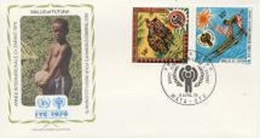 Wallis Futuna 1979, Year Of The Child, Horse, 2val In FDC - Covers & Documents