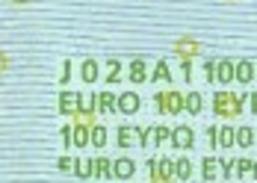 S ITALIA 100 EURO J028 A1 -  FIRST POSITION - TRICHET   UNC - EURO