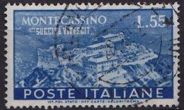 1951 MiNr. 837 Monte Cassino 55 Lire Gestempelt (b160903) - 6. 1946-.. Republic