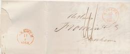 862/24 - Lettre Non Affranchie NYKERK 1864 Vers ARNHEM - Contenu Sur Le Tabac - Port 10 Cents - 1852-1890 (Guillaume III)