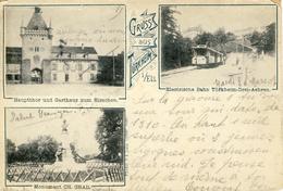 CPA - TURCKHEIM - (ALSACE) - GRUSS 3 VUES - TRAMWAY ELECTRIQUE - Autres Communes
