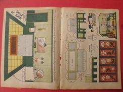 Découpage Diorama à Construire. Salle De Bain Paravent. 1934 - Collections