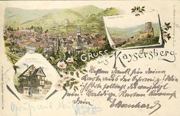 CPA - KAYSERSBERG - (ALSACE) - LITHO GRUSS 3 VUES - Sonstige Gemeinden