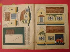 Découpage  à Construire. Maison De Campagne Et Garage Voiture. 1934 - Collections