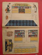 Découpage  Diorama à Construire. épicerie Café Riz Comptoir étagères Pots Balance. 1934 - Collections