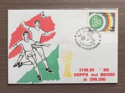 Cartolina Italia '90 IV Mostra Filatelica Sportiva Calcio - Italia '90 Annullo San Mauro Pascoli (FO) 27-10-1990 - Calcio