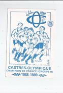 CASTRES OLYMPIQUE CHAMPION DE FRANCE GROUPE B 1988 1989 (ILLUSTARTION DE MARCHAL) - Rugby