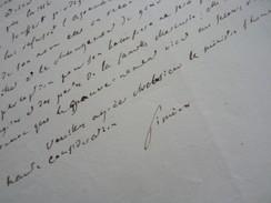 Comte SIMEON (1749-1842) [ Graveson ] MINISTRE Joseph BONAPARTE Puis Louis XVIII. AUTOGRAPHE - Autógrafos
