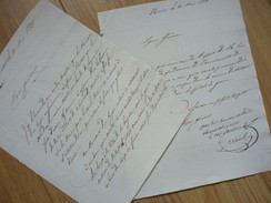 NANTES (1831) Brigands à VERTOU - CAREIL - LA GAVRE - LES SORINIERES ... Autographe - Autographes