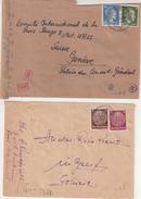 ALLEMAGNE : 5 LETTRES . DE PG RUSSES . POUR LE CICR DE GENEVE . 1944/45 . - Briefe U. Dokumente