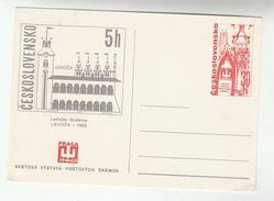 1968 CZECHOSLOVAKIA Illus LEVOCA Postal STATIONERY CARD Cover Stamps - Postal Stationery
