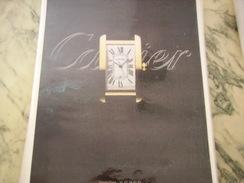 ANCIENNE PUBLICITE MONTRE CARTIER - Bijoux & Horlogerie