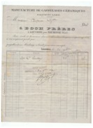 MANUFACTURE DE CARRELAGES CERAMIQUES  à  BOCH  FRERES  à  LOUVROIL Près MAUBEUGE (NORD)  1912 - France