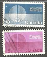 Sc. #513 & 14 United National Energy Unification Pair Used 1970 K446 - 1952-.... Règne D'Elizabeth II
