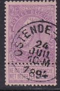 Nr. 66  OSTENDE-BAINS  1894 - 1893-1900 Schmaler Bart