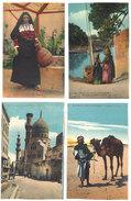 4 Cpa Egypte - Cairo, Scènes Et Types, Bédouin, Chameau, Porteuse D'eau, Blue Mosque ...     ((S.1858)) - Egypte