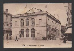 DF / 24 DORDOGNE / PÉRIGUEUX / LE THÉÂTRE / A L'AFFICHE CORA LAPARCERIE / ANIMÉE / CIRCULÉE EN 1934 - Périgueux