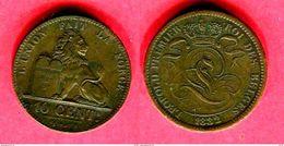§ 10CENT     (KM 12)  TB+   95 - 1831-1865: Léopold I