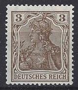 Germany 1905-13  Germania  3pf (**) MNH  Mi.84 I - Neufs