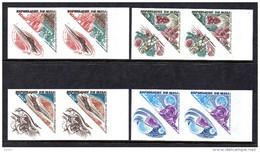 Mali A 393/96 Imperf Paires , Voyages Sur La Lune , Concorde , Jules Verne , Astronaute Armstrong - Concorde