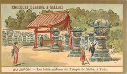 Chromo - Chocolat Debauve & Gallais - Au Japon - Les Brûle-parfums Du Temple De Shiba , à Yedo - Chocolate