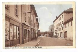 RUMILLY (cpsm 74)  Avenue Gantin En Face La Gare -    - L 1 - Rumilly