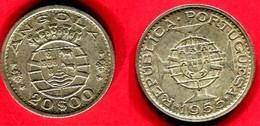 § 20 ESCUDOS   1 DINAR    (KM 34 .)  TTB +  25 - Angola