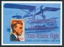 2002 Sierra Leone Charles Lindbergh Aerei Aircraft Avions Aviatori Airmen Aviateurs Block MNH** RR57 - Sierra Leone (1961-...)