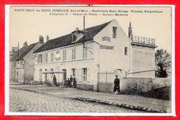 77 - SAINT JEAN Les DEUX JUMEAUX -- Hostellerie Beau Rivage - VINCENT , Propriétaire - Autres Communes