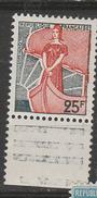 FRANCE N° 1216 25F VERT MARIANNE A LA NEF GRIS ET ROUGE  TRAIT ROUGE DEPASSANT DU CADRE NEUF SANS CHARNIERE