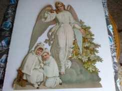 Chromos Gaufré Ancien Ange Et Enfants - Santini