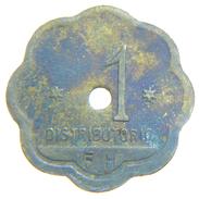 [NC] ITALIA - GETTONI MONETALI 1938 - SOCIETA ANONIMA NAZIONALE COGNE - 1 LIRA - Noodgeld