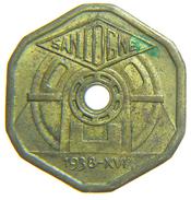 [NC] ITALIA - GETTONI MONETALI 1938 - SOCIETA ANONIMA NAZIONALE COGNE - 0,5 LIRE - Monetari/ Di Necessità