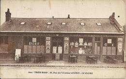 AUX TROIS ROIS. 88 RUE DE L' AVIATEUR GUERIN. CARTE FACTURE - Le Havre