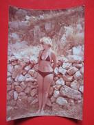 W6-Vintage Photo Snapshot-Blonde Woman In A Swimsuit,Bikini - Pin-Ups