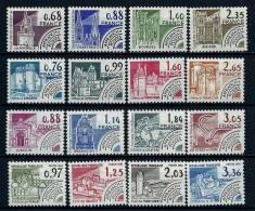 """Préo YT 162 à 177 """" Monuments Historiques, Série Complète De 16 TP  """" 1979-82 Neuf **"""