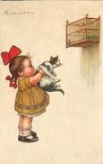 COLOMBO - ILLUSTRATEUR - FILLETTE AU CHAT - CAT - 1922. - Colombo, E.