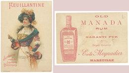 Carte Chromo Feuillantine, Liqueur, Old Manada Rum, Meynadier Marseille  ((S.1899)) - Autres