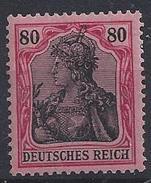 Germany 1915  Germania  80pf (**) MNH  Mi.93 II - Deutschland