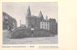Belgique (Liège-)  SPA  Cascade Monumentale Eaux Minérale Ferrugineuses Chlorose Anémie Neurasthénie (Cpa DOS SIMPLE) - Spa