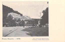 Belgique (Liège) SPA  Place Royale (Eaux De SPA)Eaux Minérale Ferrugineuses Chlorose Anémie Neurasthénie (Cpa DOS SIMPLE - Spa
