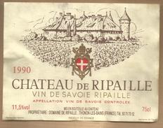 Etiquette De Vin Savoie Château De Ripaille 1990 Thonon Les Bains - Alcool Cru Vignoble ... - Castles