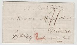 Mes005 / Görslow (Leezen) Abgesandt Von Schwerin 1812 Nach Frankreich (mit Textinhalt) - Mecklenburg-Schwerin