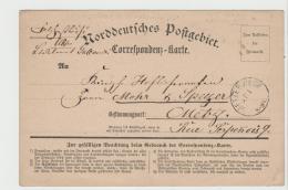EL070 / , Feldpost, Krieg 1870-71 Auf NDP Korrespondenzkarte Metzerwiese Nach Metz 26.1.1871, Ankunft 27.1.71 - Elsass-Lothringen